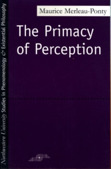 The Primacy of Perception, Paperback / softback Book