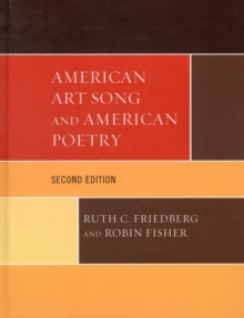 American Art Song and American Poetry, Hardback Book