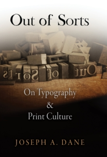 Out of Sorts : On Typography and Print Culture, Hardback Book