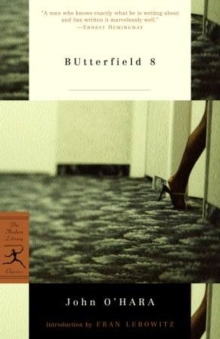 Butterfield 8, Paperback Book