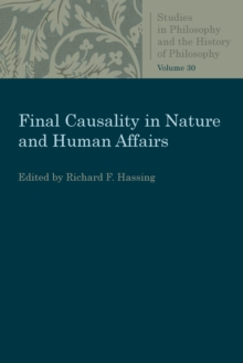 Final Causality in Nature and Human Affairs, Paperback / softback Book