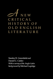 A New Critical History of Old English Literature, Paperback / softback Book