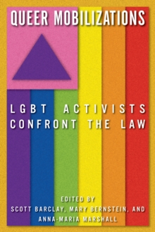 Queer Mobilizations : LGBT Activists Confront the Law, Hardback Book