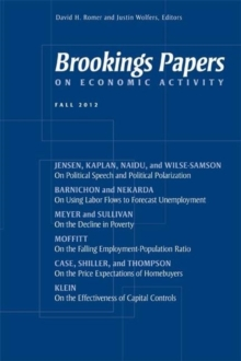 Brookings Papers on Economic Activity: Fall 2012, Paperback / softback Book