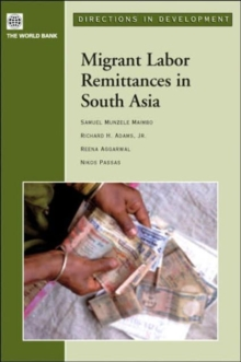Migrant Labor Remittances in South Asia, Hardback Book