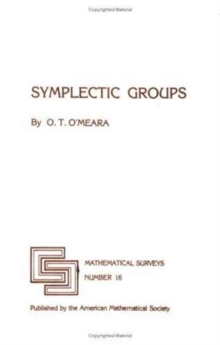 Symplectic Groups, Paperback / softback Book
