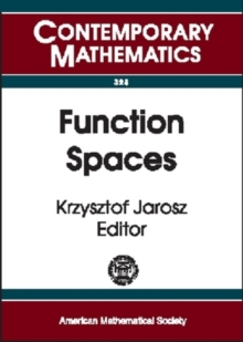 Function Spaces, Paperback / softback Book