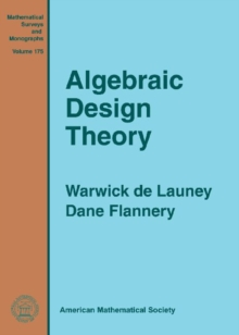 Algebraic Design Theory, Hardback Book