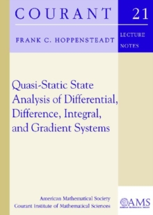 Quasi-Static State Analysis of Differential, Difference, Integral and Gradient Systems, Paperback / softback Book