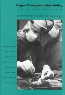 Organ Transplantation Policy, Hardback Book