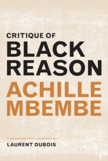 Critique of Black Reason, Paperback Book