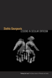 Lessons in Secular Criticism, Hardback Book