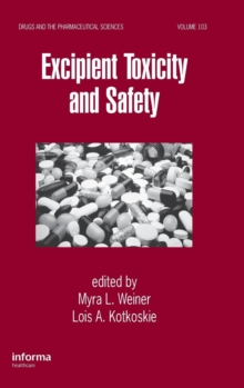 Excipient Toxicity and Safety, Hardback Book