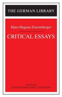 Critical Essays, Paperback / softback Book