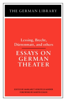 Essays on German Theater, Paperback / softback Book