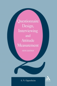 Questionnaire Design, Paperback Book