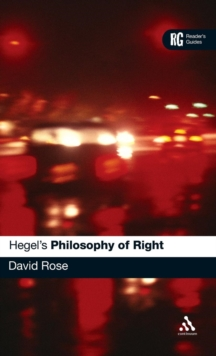 "Hegel's ""Philosophy of Right"" : A Reader's Guide, Hardback Book"