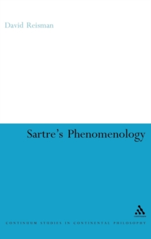 Sartre's Phenomenology, Hardback Book