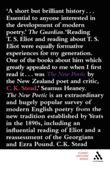 The New Poetic : Yeats to Eliot, Paperback / softback Book