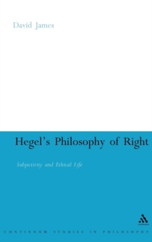 "Hegel's ""Philosophy of Right"" : Subjectivity and Ethical Life, Hardback Book"