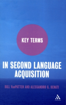 Key Terms in Second Language Acquisition, Paperback / softback Book