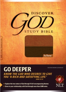 Discover God Study Bible-NLT, Leather / fine binding Book
