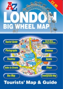 A-Z London Tourists Map and Guide, Paperback Book