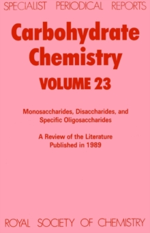 Carbohydrate Chemistry, Hardback Book