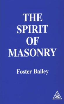 The Spirit of Masonry, Paperback Book