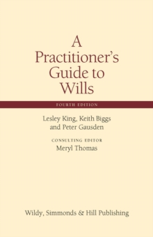 A Practitioner's Guide to Wills, Hardback Book