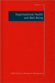 Organizational Health and Well-Being, Hardback Book