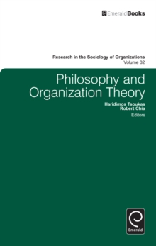 Philosophy and Organization Theory, Hardback Book