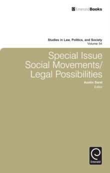 Special Issue: Social Movements/Legal Possibilities, Hardback Book