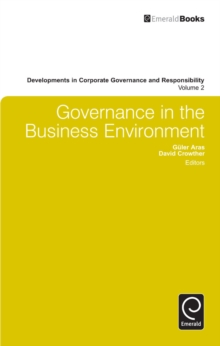 Governance in the Business Environment, Hardback Book