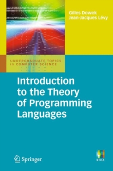 Introduction to the Theory of Programming Languages, Paperback / softback Book