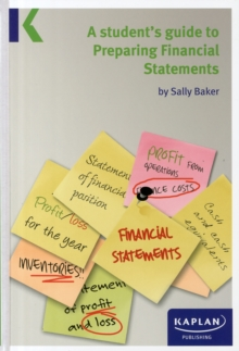 A Students Guide to Preparing Financial Statements, Paperback Book