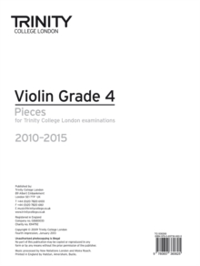 Violin Exam Pieces Grade 4 2010-2015 (part Only), Sheet music Book