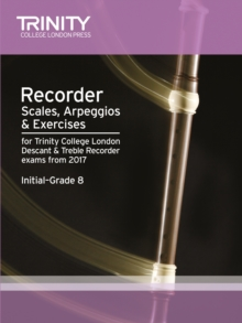 Recorder Scales, Arpeggios & Exercises Initial Grade 8 from 2017, Paperback Book