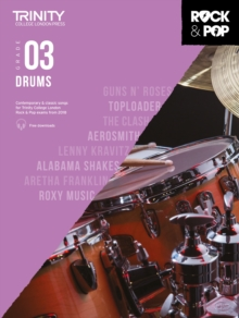 Trinity College London Rock & Pop 2018 Drums Grade 3, Sheet music Book