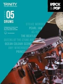 Trinity College London Rock & Pop 2018 Drums Grade 5 CD Only, Sheet music Book