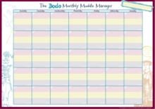 The Dodo Monthly Muddle Manager Pad - A3 Desk Sized Monthly-Calendar-Jotter-Doodle-Tear-off-Notepad, Loose-leaf Book
