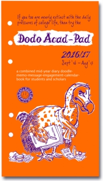 Dodo Acad-Pad 2016 - 2017 Filofax-Compatible Personal Organiser Diary Refill Mid Year / Academic Year, Week to View : A Doodle-Memo-Message-Engagement-Calendar-Organiser-Planner for Students & Teacher, Diary Book