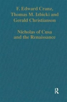 Nicholas of Cusa and the Renaissance, Hardback Book