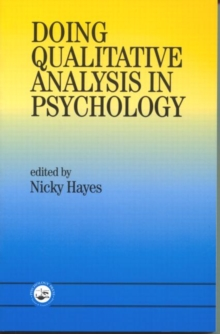 Doing Qualitative Analysis in Psychology, Paperback Book