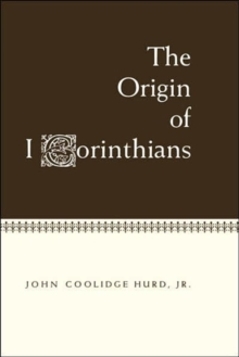 Origin of 1 Corinthians, Hardback Book