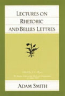 Lectures on Rhetoric and Belles Lettres, Paperback / softback Book