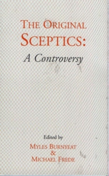 The Original Sceptics : A Controversy, Paperback / softback Book