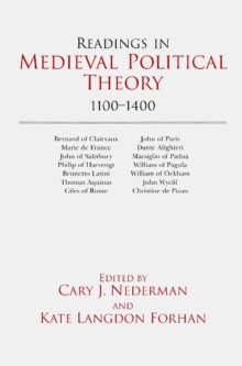 Readings in Medieval Political Theory: 1100-1400 : 1100-1400, Paperback / softback Book