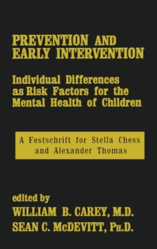 Prevention And Early Intervention, Hardback Book