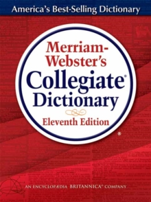 Merriam-Webster Collegiate Dictionary, Hardback Book